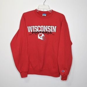Champion Wisconsin Badgers Football Crewneck